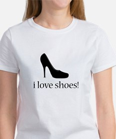 i love black high heel shoes Women's T-Shirt
