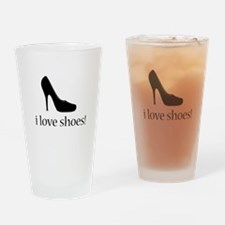 i love black high heel shoes Drinking Glass
