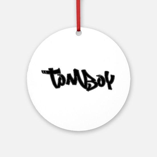 Tomboy Christmas Ornament (round)