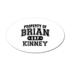 Property of Brian Kinney 38.5 x 24.5 Oval Wall Pee