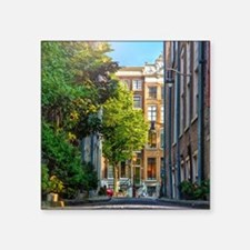 """Calm residential street in  Square Sticker 3"""" x 3"""""""