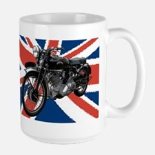 VIncent Motor Bike on Union Jack Mugs