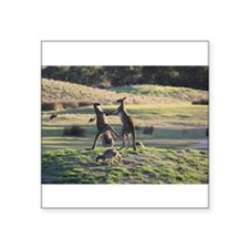 "Cute Australian Square Sticker 3"" x 3"""