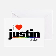 I Heart Justin Taylor Greeting Card