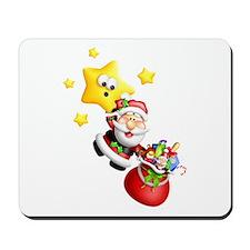 Santa Descending From the Stars Mousepad