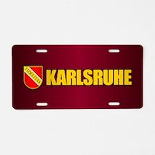 Karlsruhe Aluminum License Plate