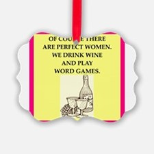 word games Ornament