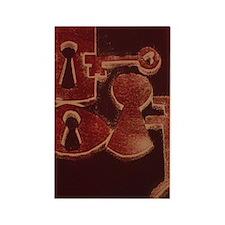 Keys in Red Rectangle Magnet