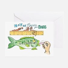 How to Measure your Bass Greeting Card