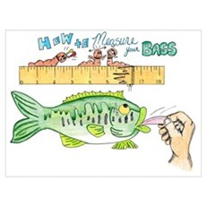 How to Measure your Bass Framed Print