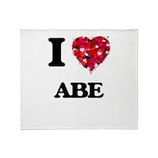 I Love Abe Throw Blanket