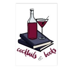 Cocktails and Books Postcards (Package of 8)