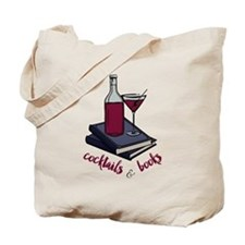 Cocktails and Books Tote Bag
