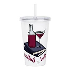 Cocktails and Books Acrylic Double-wall Tumbler