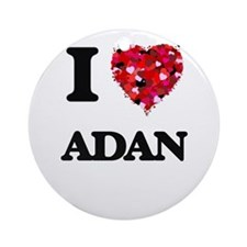 I Love Adan Ornament (Round)