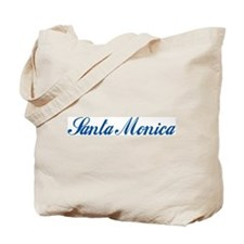 Santa Monica (cursive) Tote Bag