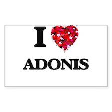 I Love Adonis Decal