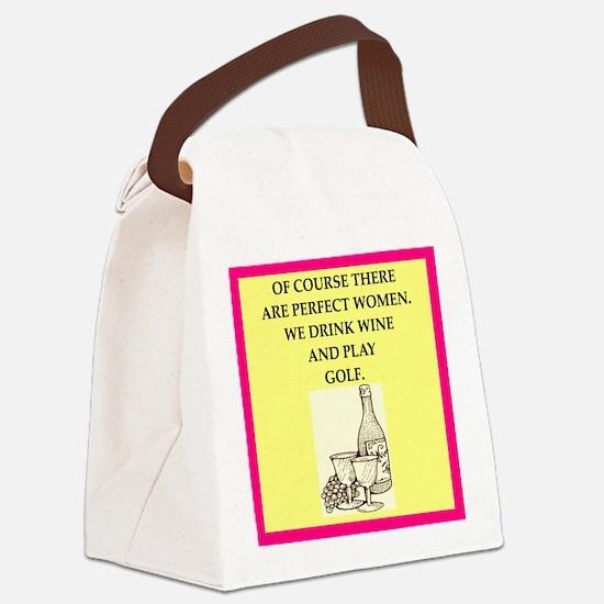 golf Canvas Lunch Bag