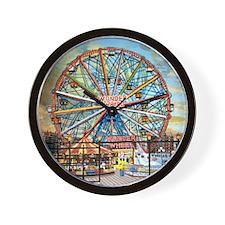 Wonder Wheel Park Wall Clock