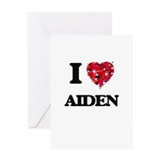 I Love Aiden Greeting Cards