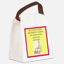 canasta Canvas Lunch Bag
