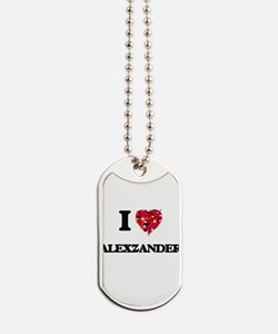 Cute Alexzander Dog Tags