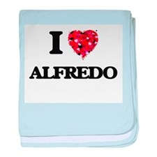 I Love Alfredo baby blanket