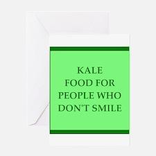 kale Greeting Cards