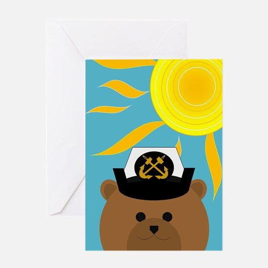 Navy Chief Summer Miss You Card Greeting Cards