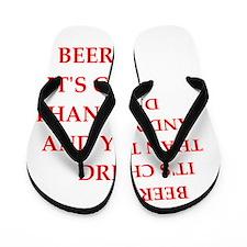 beer pong joke Flip Flops