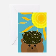Army Camo Soldier Summer Miss You Greeting Cards