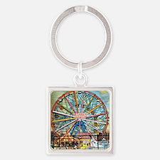 Wonder Wheel Par Keychains