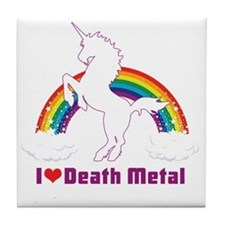 Cute Death metal Tile Coaster