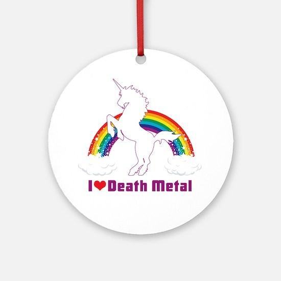 Cute Death metal Round Ornament