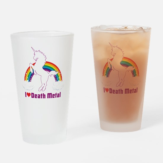 Cute Death metal Drinking Glass