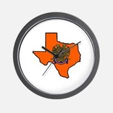 Scottish Rite Texas Burnt Orange Wall Clock
