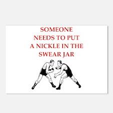 wrestling jokes Postcards (Package of 8)