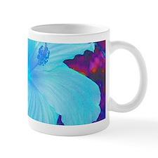 Hibiscus in Blue Mug