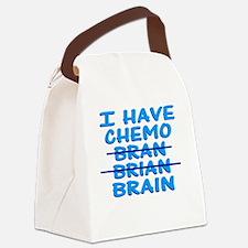 ChemoBranBlueButton Canvas Lunch Bag