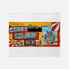 Greetings From Coney Island, N.Y. Throw Blanket