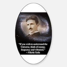 Tesla Universe Sticker (Oval)