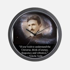 Tesla Universe Wall Clock