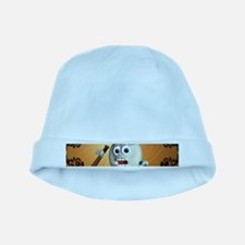 Funny cartoon baseball baby hat
