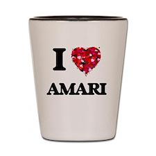 I Love Amari Shot Glass