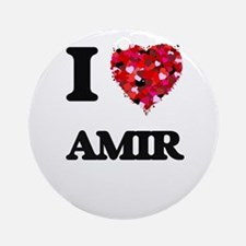 I Love Amir Ornament (Round)