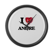 I Love Andre Large Wall Clock
