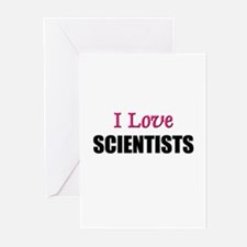 I Love SCIENTISTS Greeting Cards (Pk of 10)