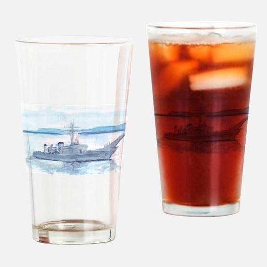 USS Saginaw Drinking Glass