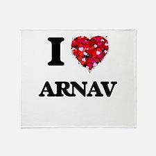 I Love Arnav Throw Blanket