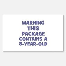 WARNING~This package contains Sticker (Rectangular